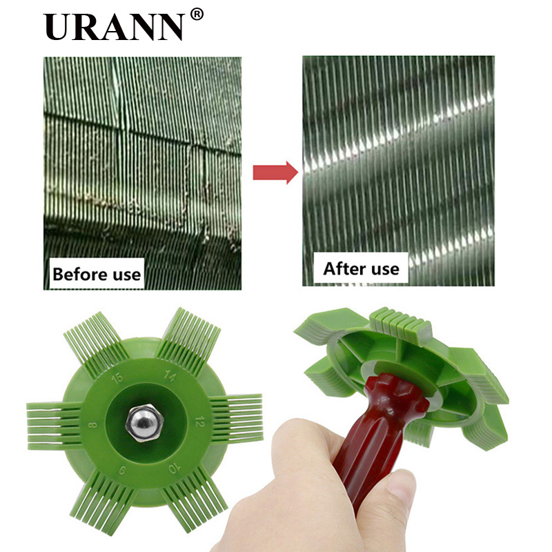URANN 1pcs A/C Radiator Condenser Evaporator Fin Coil Comb Air Conditioner Coil Straightener Cleaning Tool Auto Cooling System