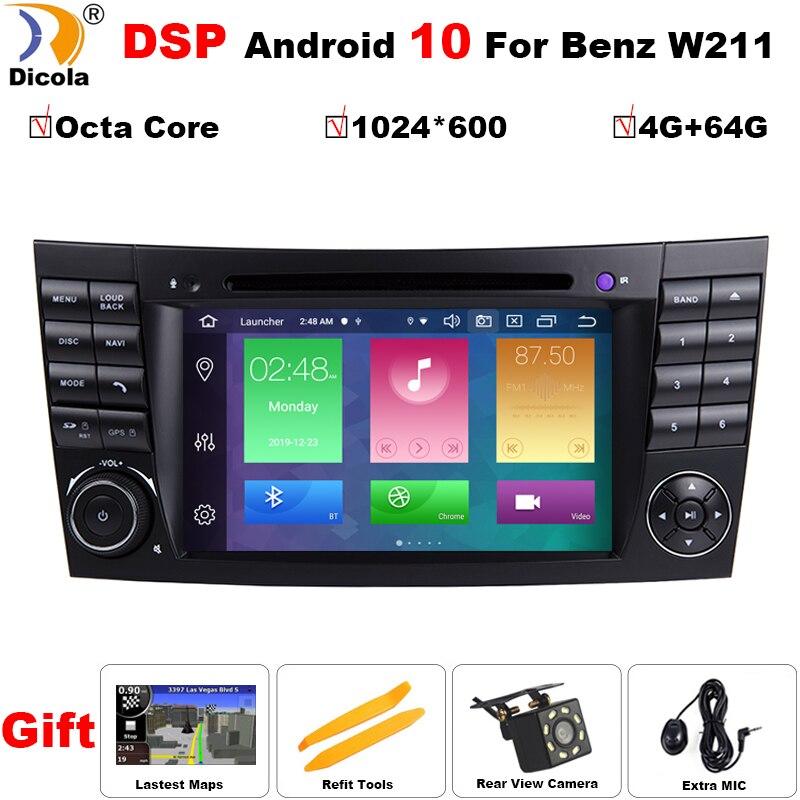 DSP IPS 4G 64G Android 10 2 din auto DVD player Für Mercedes Benz E-klasse W211 e200 E220 E300 E350 E240 E270 E280 CLS KLASSE W219