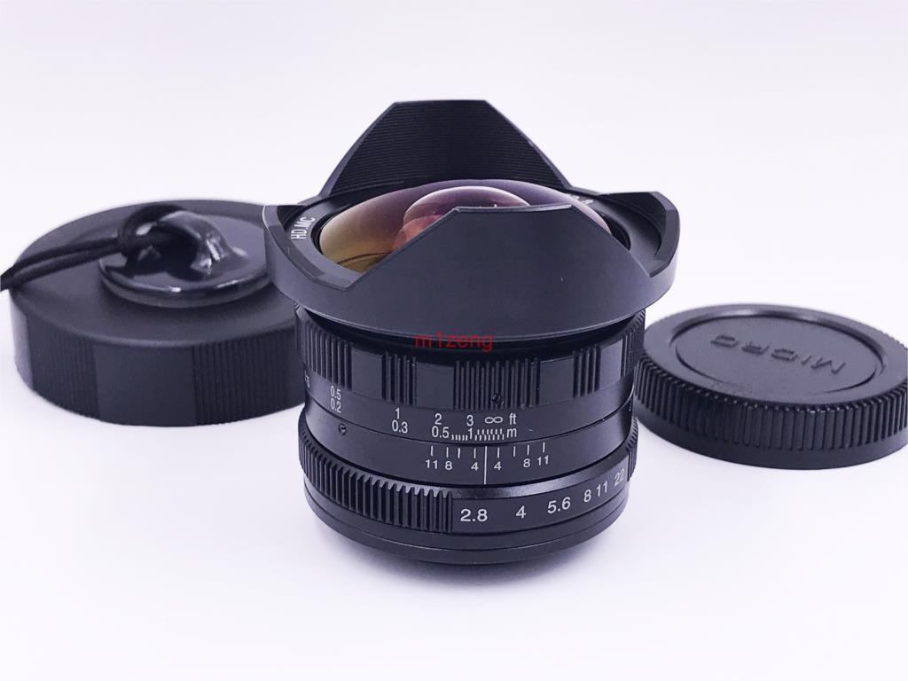 7.5mm F/2.8 Mf Movie Wide Angle Fisheye Lens For Sony A7 A7r4 A6500 A7r3 Fuji Xt4 Xt20 Xa7 M43 Gh4 Em5 Em10 Canon Eosm Camera Finely Processed