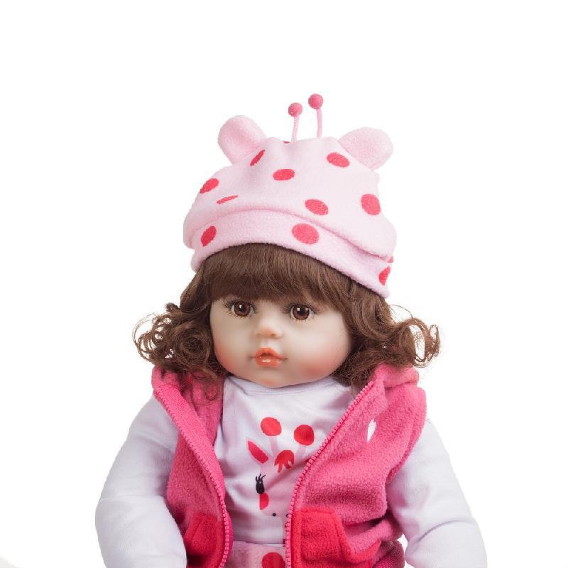 48cm Silicone Reborn bébé poupées Bebe vivant Menina enfant en bas âge réaliste Boneca réaliste vraie fille poupée Lol anniversaire jouer jouets - 4