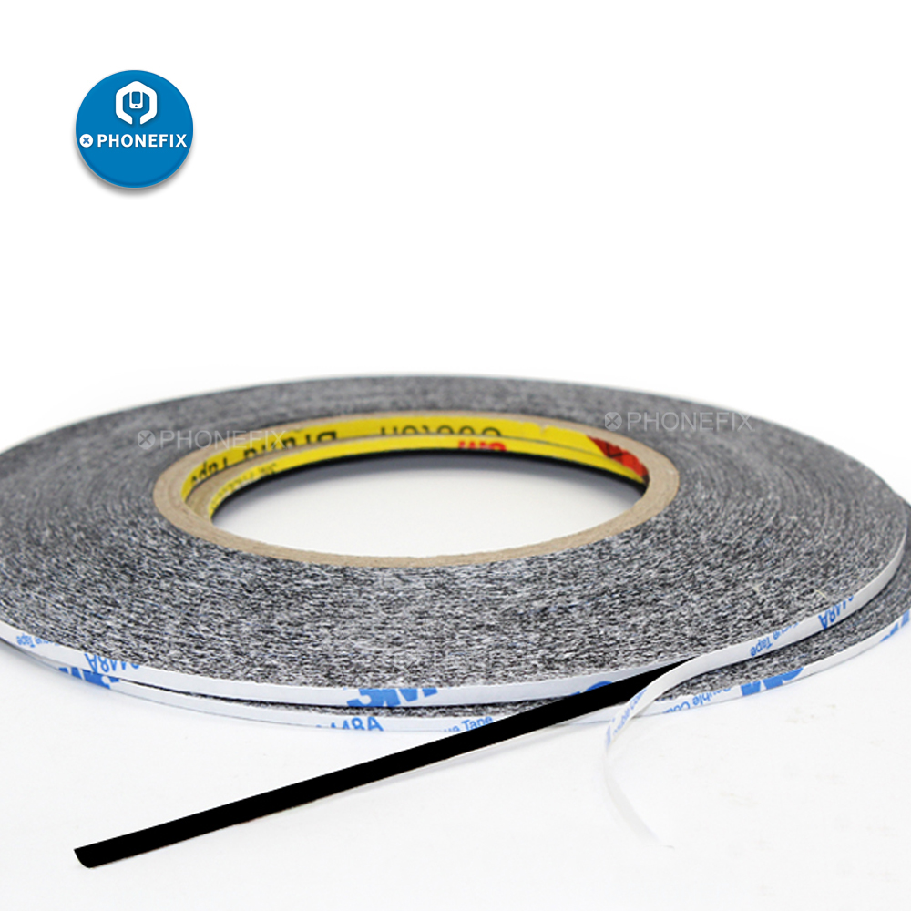 1/ 2/ 3/ 5mm 50M Black Double Sided Adhesive Tape LCD Touch Screen Repair Tape For IPhone Repair LCD Display Waterproof Sticker