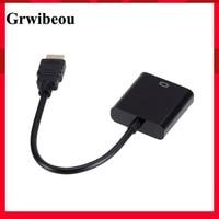 Grwibeou HD 1080P HDMI Zu VGA Kabel Konverter HDMI Stecker Auf VGA Famale Konverter Adapter Digital Analog für Tablet laptop PC TV