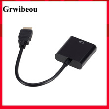 Grwibeou HD 1080P HDMI To VGA Cable Converter HDMI Male To VGA Famale Converter Adapter Digital Analog for Tablet laptop PC TV
