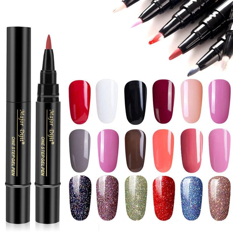 Дизайн ногтей 1 шт. 3 в 1 одношаговый гель Лаки ручка для ногтей, гель для ногтей, лак, специальные дизайнерские карандаши Для женщин косметиче...