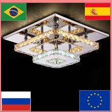 Современный хрустальный светодиодный потолочный светильник, светильник для внутреннего освещения, лампа для поверхностного монтажа, потолочный светильник для спальни