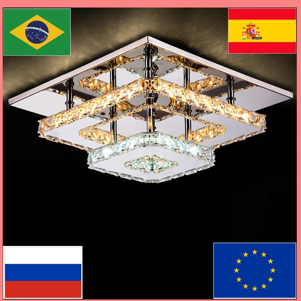 Retro Luxury Modern Lighting Crystal LED Ceiling Lamp Bedroom Ceiling Chandelier Tricolor Dimmable Indoor Ceiling Chandelier