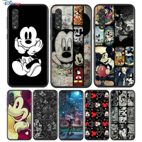 Negro de Mickey Mouse para Samsung Galaxy A90 A80 A70 A70S A60 A50 A40 A30 A30S A20S A20E A10 A10E teléfono caso