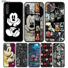Czarny miękkie Mickey Mouse do Samsung Galaxy A90 A80 A70 A70S A60 A50 A40 A30 A30S A20S A20E A10 A10E etui na telefon
