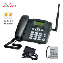Gsm 850/900/1800/1900 mhz固定無線電話サポート英語フランス語ポルトガル語ロシア語スペイン語タイ語アラビアデュアルsimカード