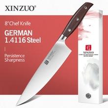 XINZUO 8 şef bıçağı alman DIN 1.4116 çelik mutfak bıçakları paslanmaz çelik et sebze bıçağı mutfak kırmızı sandal kolu