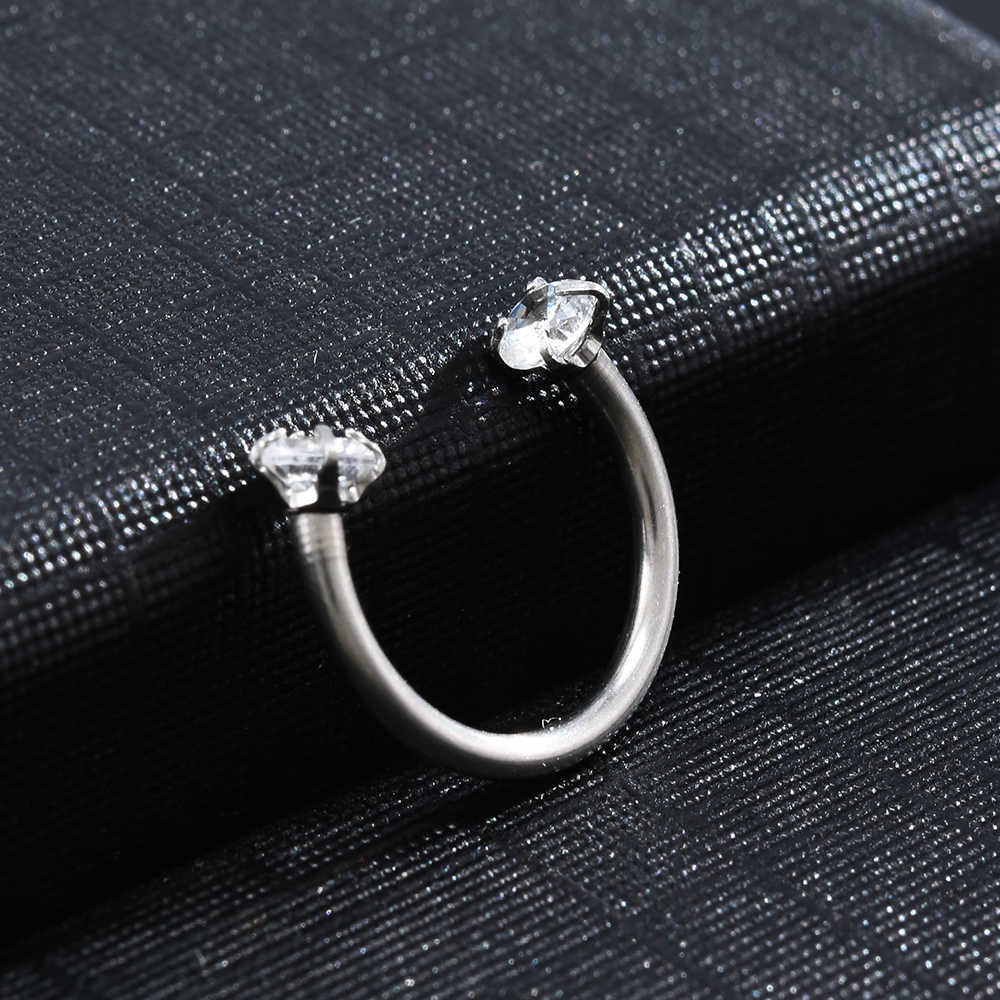2019 adorável piercing septo nariz lábio orelha septo cartilagem cativo argola anel jóias pendientes tragus mujer nariz piercing jóias