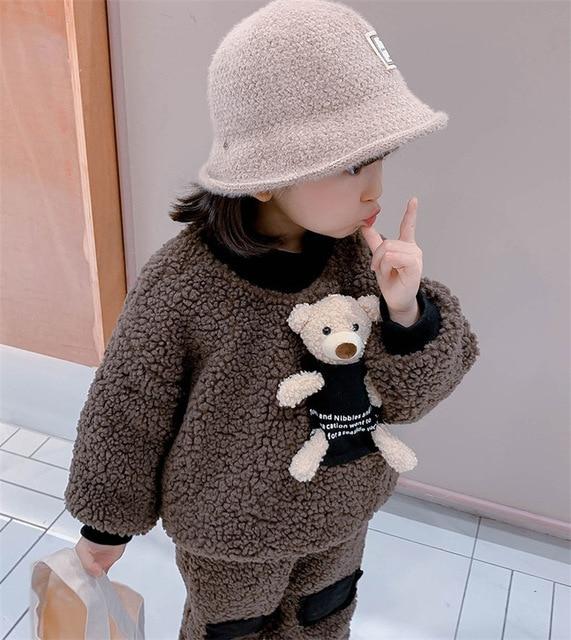 2-6 Years - Warm Fleece Set - Teddy Bear