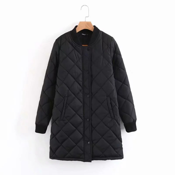 Winter long coats and jackets women 2020 female coat casual black bomber jacket women basic jackets pocket zipper outwear