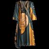 ZUOMAN Silk Dress New Summer Women Loose Plus size Casual Dress OL work Wear Vintage Print beach Sundress dresses vestidos 5