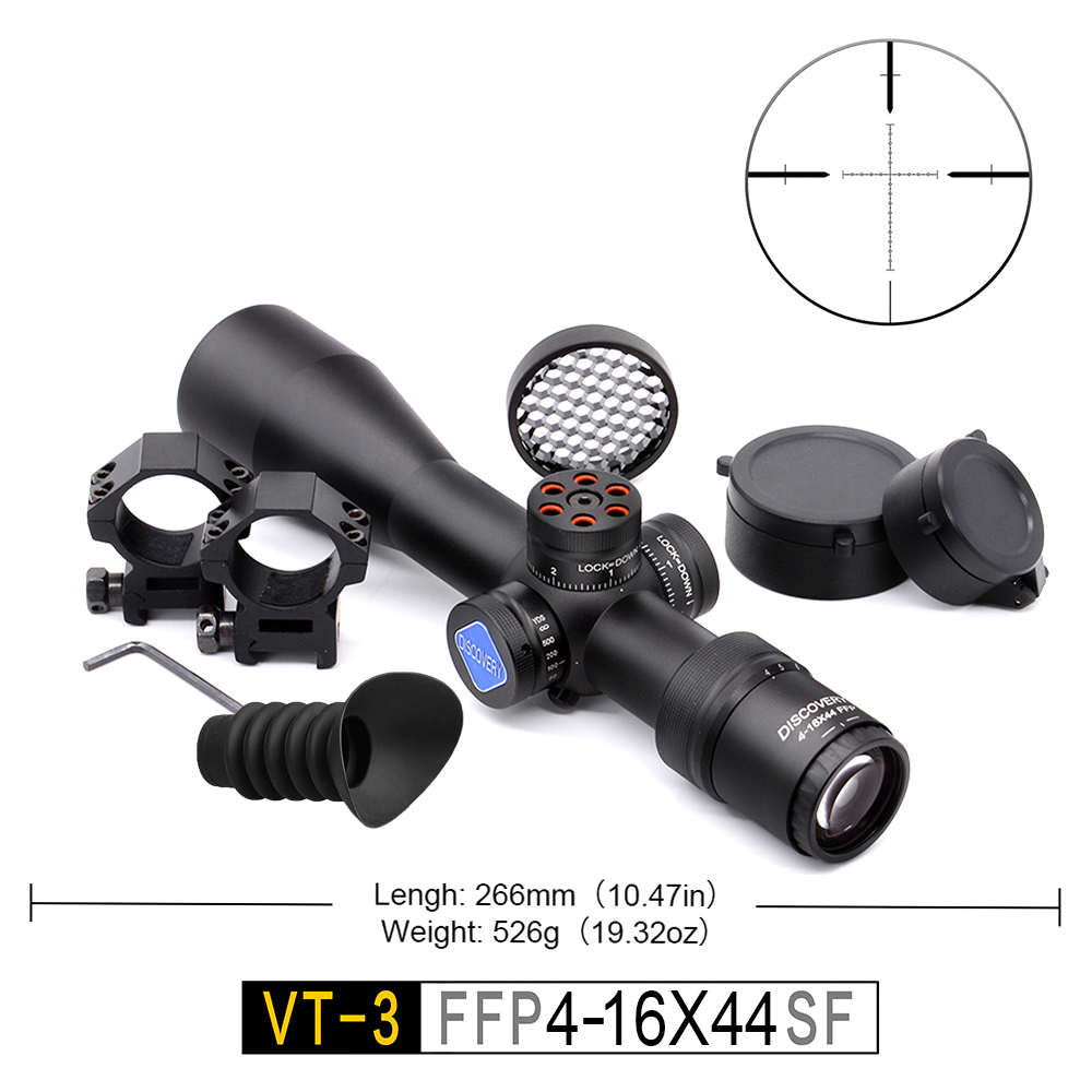 Compact Scope First Focal Plane 4-16 X44 Original Factory Arms Soldier Hunter Using Sight PCP Gun Hunting Riflescope