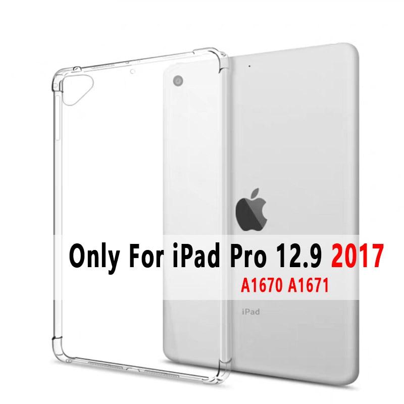 iPad Pro 12.9 2017 White Soft Silicone Case For iPad Pro 12 9 2015 2017 2018 2020 Cover Ultra Slim A1584