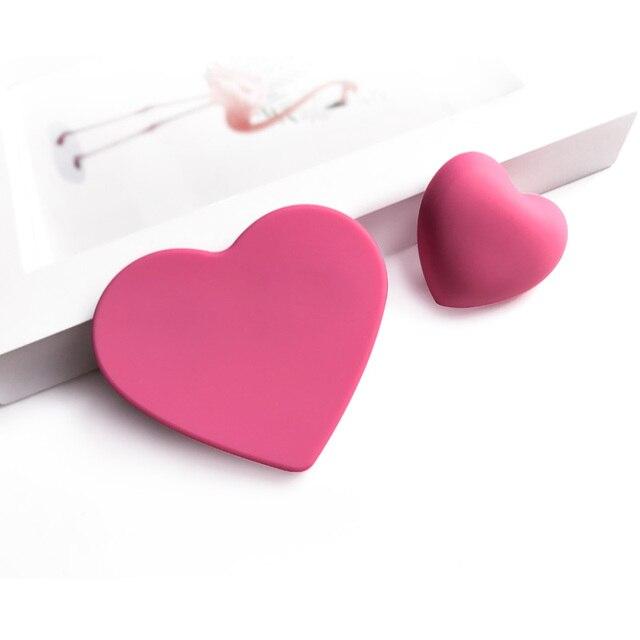 Picaportes de goma para niños, Pomos y tiradores de armario de cocina con forma de nube y Luna y corazón rosa