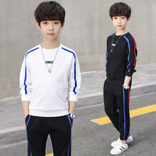 2019 New Boys Tracksuit 100% Cotton Childrens Sports Suit Kids Spring&Autumn School Uniform Sport Clothing Sets