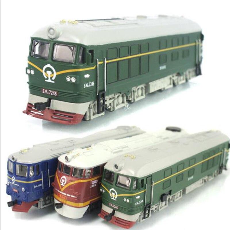 1 pcs simulado liga trem locomotiva modelo 04