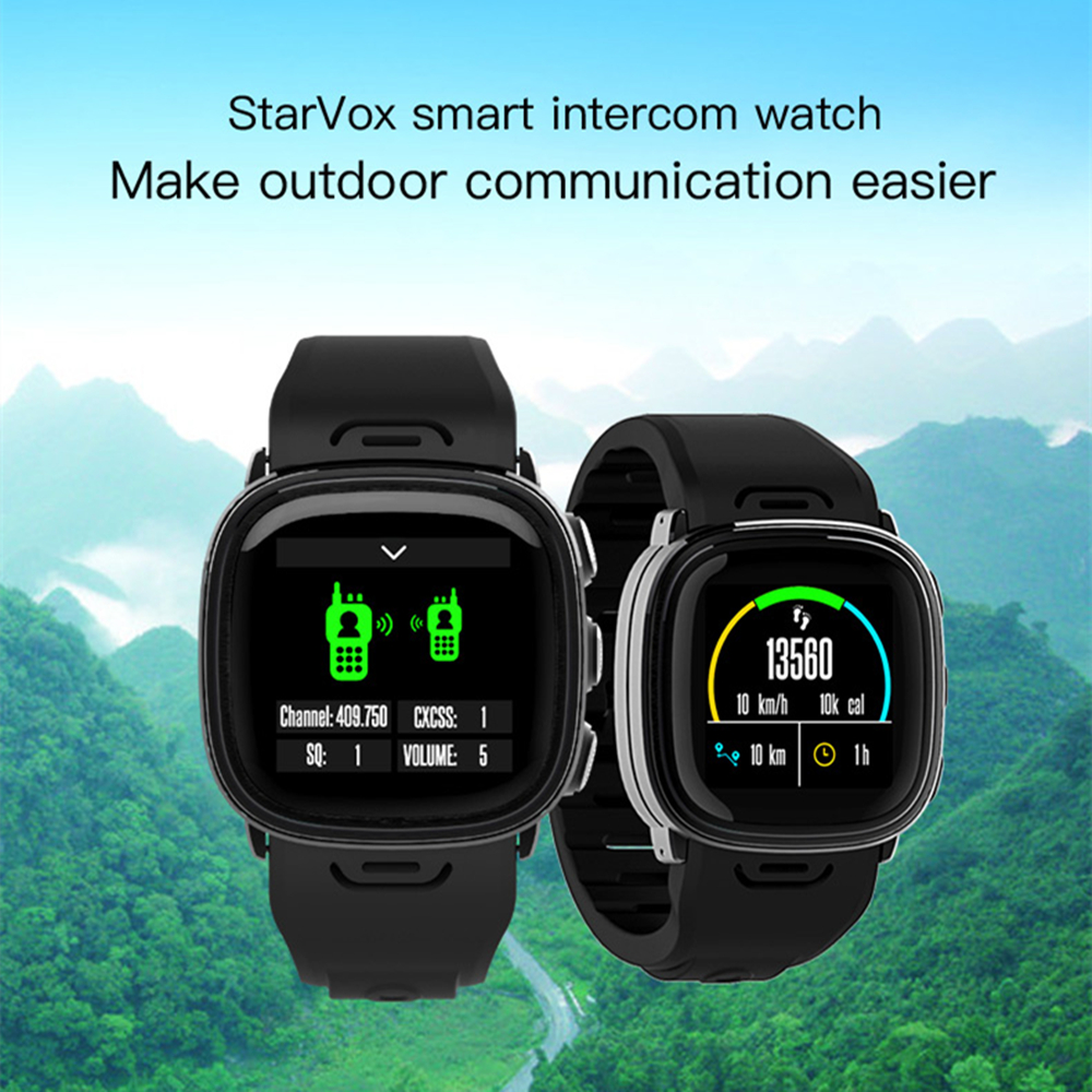 Montre intelligente talkie-walkie Radio Interphone GPS Altitude baromètre montagne boussole Bracelet Sport de plein air Bluetooth Bracelet