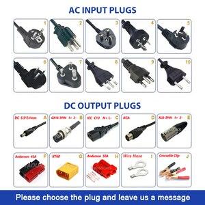 Image 5 - 75.6 v 4a carregador de bateria de lítio para 18 s 66.6 v bicicleta elétrica li ion carregador de bateria