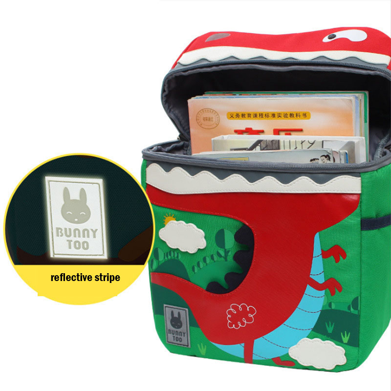 Image 5 - Kid Unicorn Backpack Cute 3D Cartoon Dinosaur Anti lost Printed  Kindergarten orthopedic School Bag for Girl Boy Children  MochilaBackpacks
