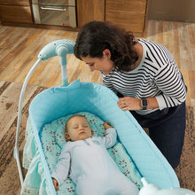 Wireless Remote Control Newburn Baby Swing Cradle Infant Rocking Bed Bassinet Smart Electric Rock Cradle