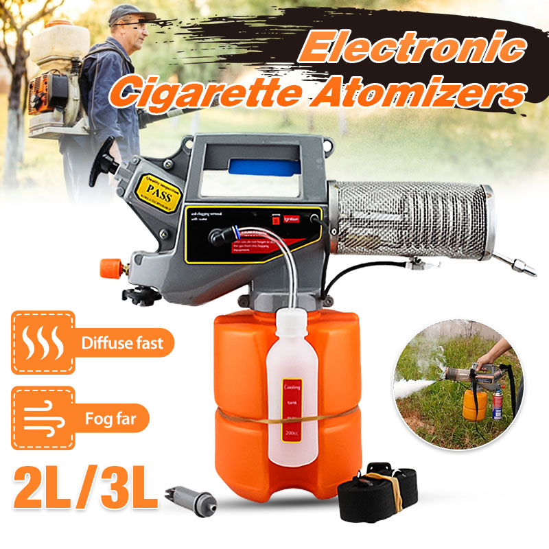 2L/3L Mini Electronic Fogger Sprayer Machine Atomizer Butane Gas Medicine Box Handheld Thermal Mosquito Insecticide Disinfection