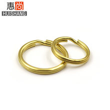 Brass Key Ring Handmade Fine Copper Double Layer round Wire Key Ring Men And Women Car Key Ring Golden Circle Accessories(China)
