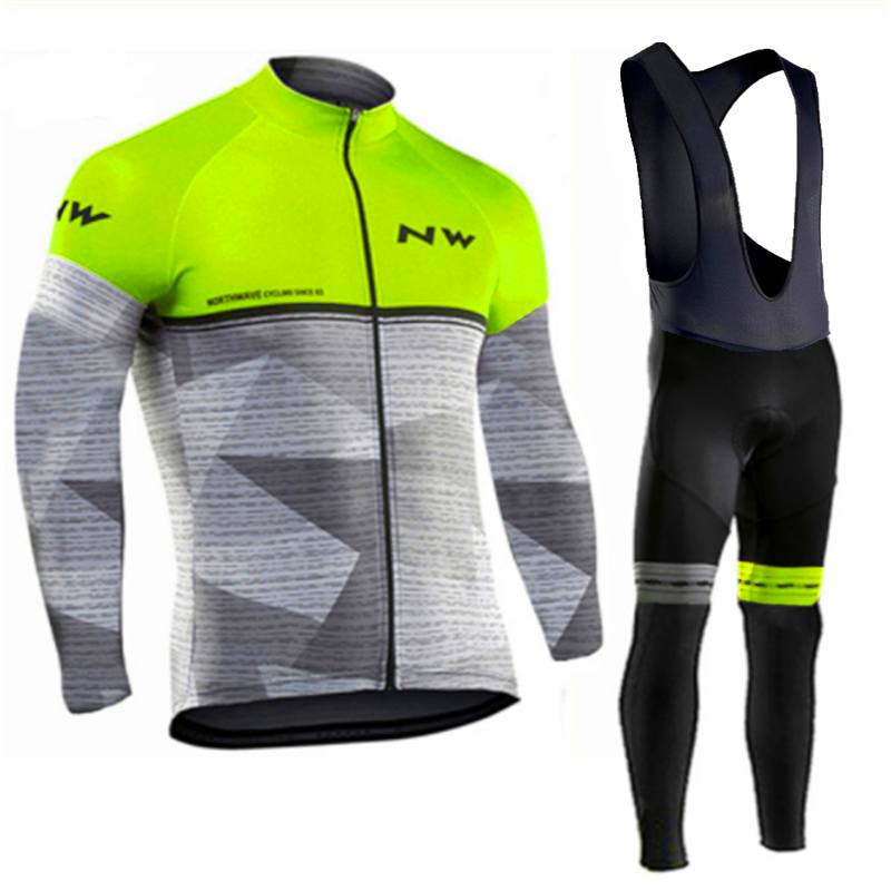 <font><b>NW</b></font> <font><b>2019</b></font> Breathable Cycling Clothes Set <font><b>Northwave</b></font> Long Sleeve Summer Jersey men suit outdoor sportful bike MTB clothing image