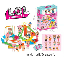 LoL Surprise Dolls Play House Amusement Park Doll Toy Set Boxed LOL dolls Action Figure Toys for Girls Birthday Gifts