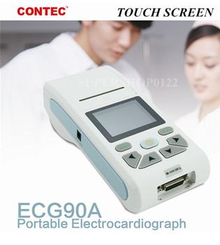 CONTEC ECG90A ręczne cyfrowe urządzenie do EKG 1 kanał 12 odprowadzeń EKG EKG elektrokardiograf Sync oprogramowanie komputerowe tanie i dobre opinie CHINA Elektroniczne urządzenie do pomiaru tętna