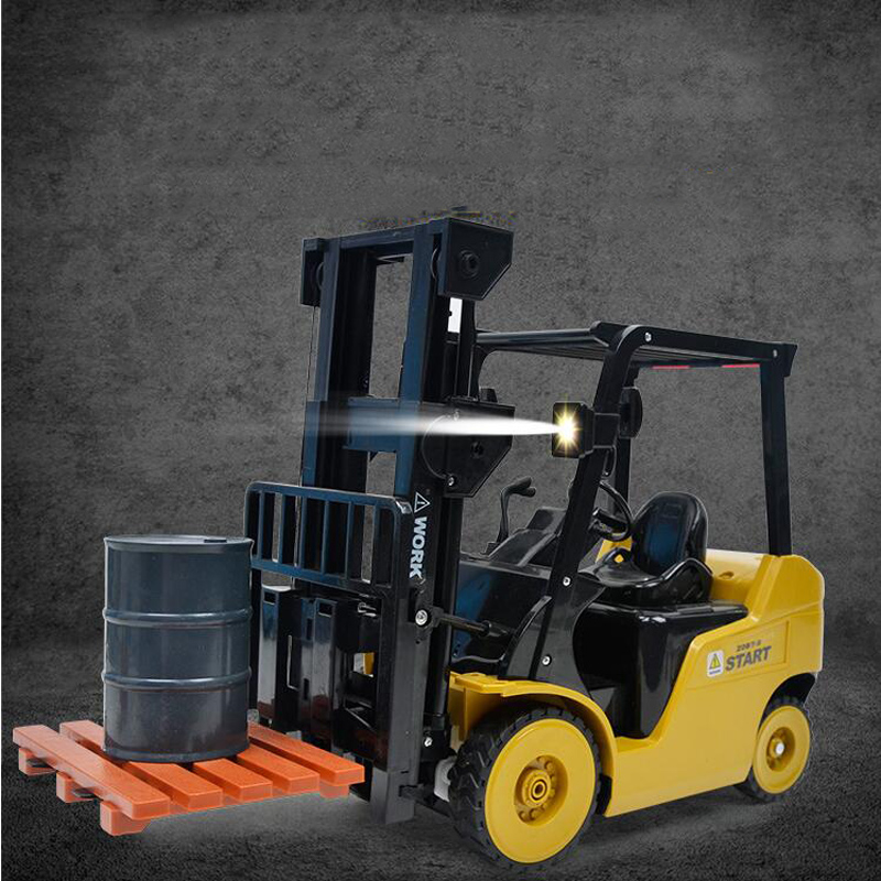 11-Way Remote Control Forklift 1:8 Simulation Forklift Rechargeable Light Music Crane Engineering Crane Truck Children's Toys