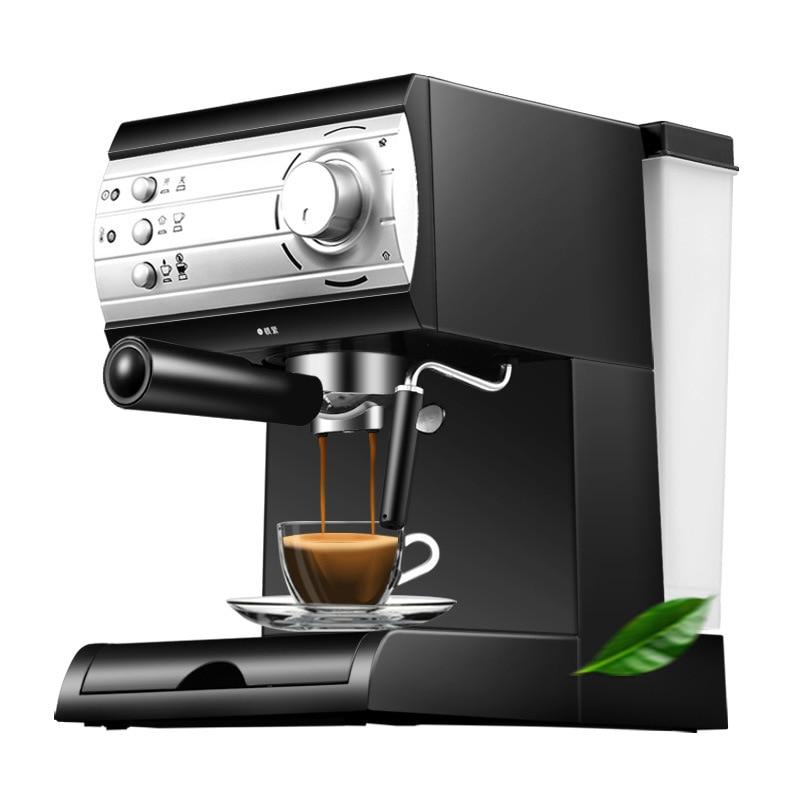 DMWD 1500ml Espresso Machine with Steam Foam System and Double Pipe Split