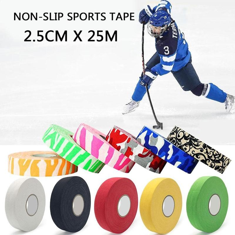 Anti-slip Ice Hockey Bar Handle Wear-resistant Hockey Bar Badminton Handle Bike Grip Handlebar Cloth Sticky Tape Sports Supplies