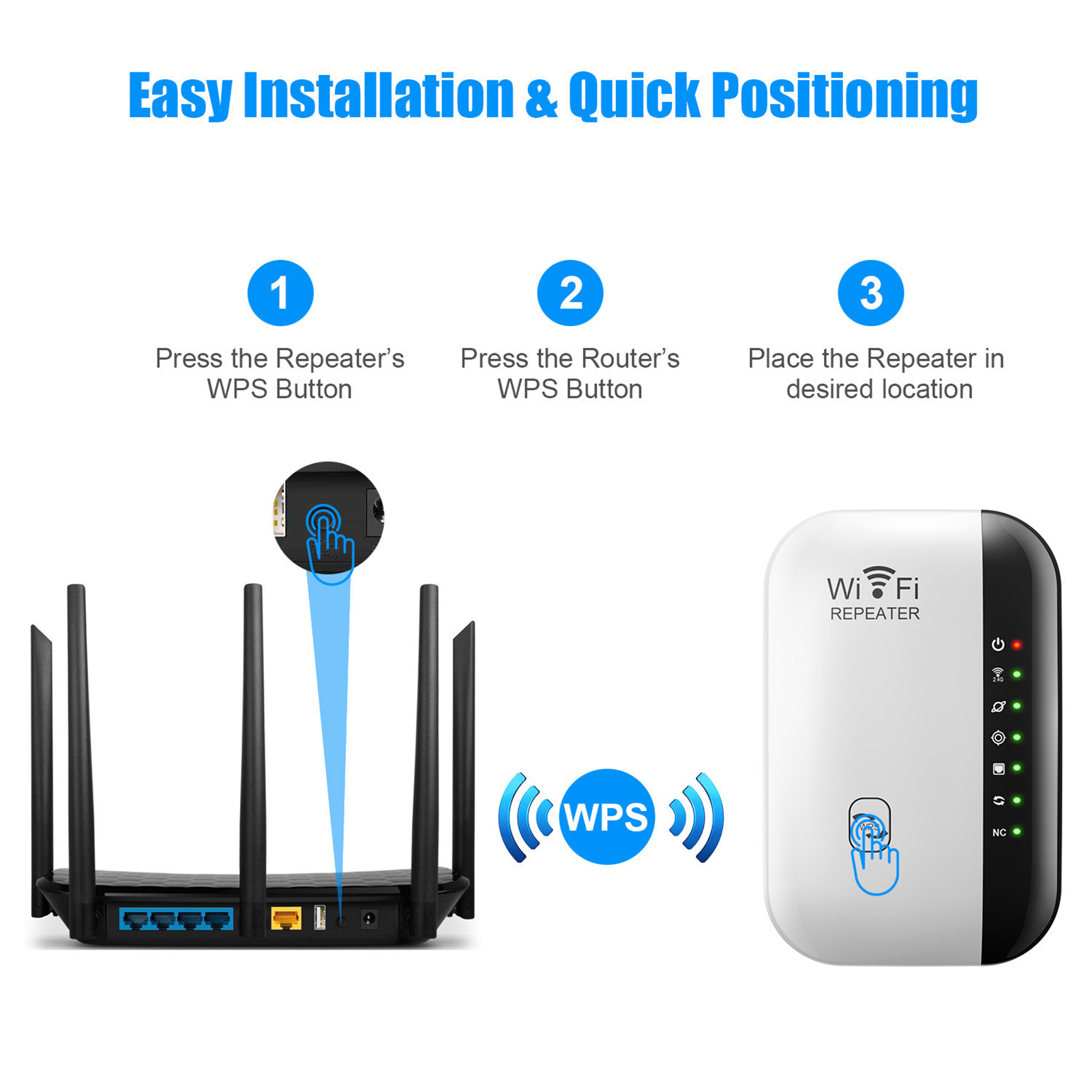 Wireless Wifi Repeater Wi-Fi Range Extender Router Wi Fi Signal Amplifier 300Mbps WiFi Booster 2.4G Wi Fi Reapeter Access Point 2