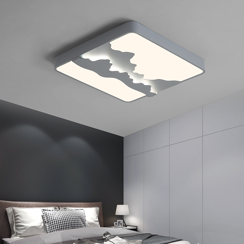 Prostokąt nowoczesne lampy sufitowe Led sypialnia do salonu sypialnia gabinet kwadratowa lampa sufitowa 90-260V biały lub szary kolor
