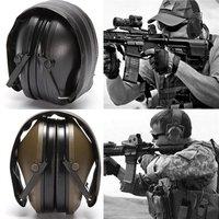 Nueva orejera de tiro electrónico antiruido para deportes al aire libre amplificación de sonido táctico audífono protector plegable Protectores de oído Seguridad y protección -