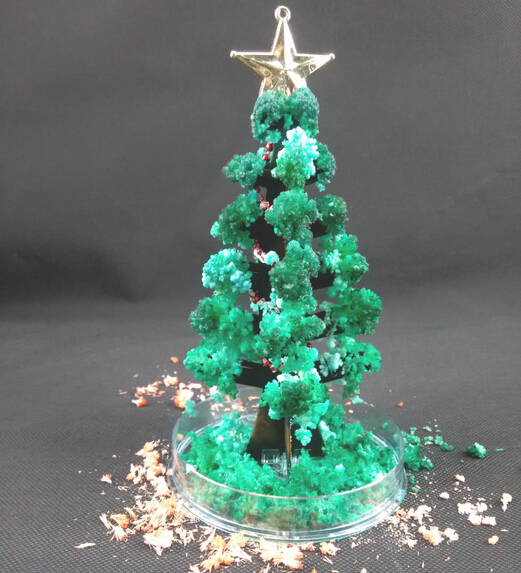 Miracle Growing Christmas Tree DIY Green Visual Magically Grow Paper Crystals Tree Magic Growing Christmas Trees 1