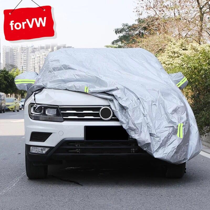 Bache voiture housse carrosserie bâches de voiture pour hiver bâche de voiture pour Volkswagen Tiguan CC GOLF Touran pleine bâche de voiture passat variante