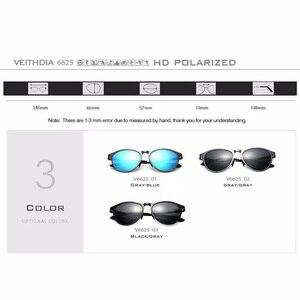 Image 5 - VEITHDIA Sun Glasses Retro Aluminum Magnesium Sunglasses Polarized Lens Vintage Eyewear Accessories Sun Glasses Men/Women 6625