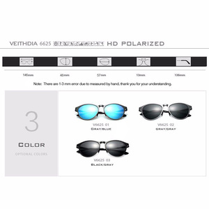 Image 5 - Veithdia Zonnebril Retro Aluminium Magnesium Zonnebril Gepolariseerde Lens Vintage Eyewear Accessoires Zonnebril Mannen/Vrouwen 6625