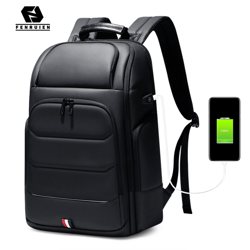 Travel Backpack Laptop School-Bag Fenruien Anti-Theft High-Capacity Men Fit Usb-Charging