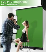 Fotografia tela verde dobrável chroma chave painel de fundo remoção rugas-resistente pull-up estilo com suporte para vídeo