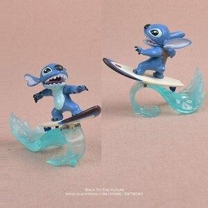 Image 5 - Disney Lilo i stich 5 sztuk/zestaw 5 7cm figurka Anime dekoracja kolekcja figurka mała lalka model zabawkowy dla dzieci prezent