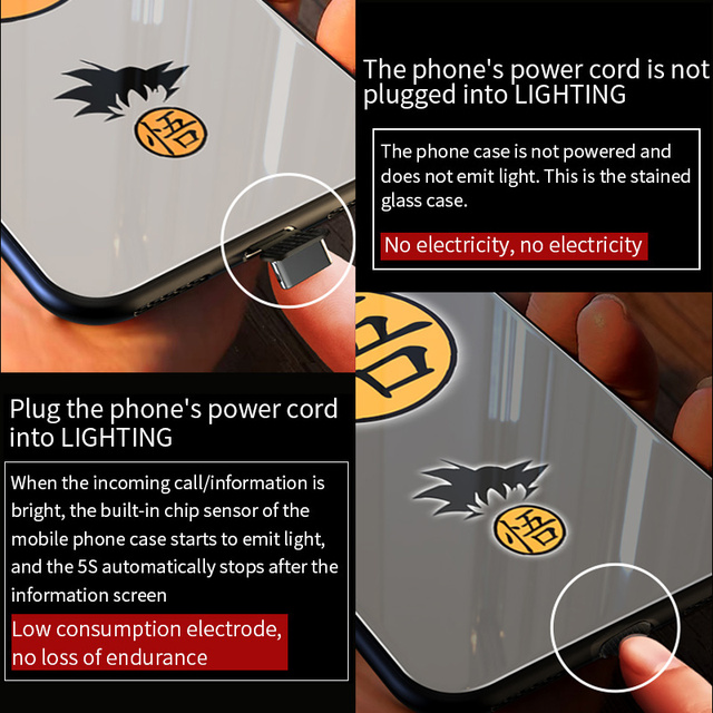 Dragon Ball Smart Led Glow Case For iPhone Models