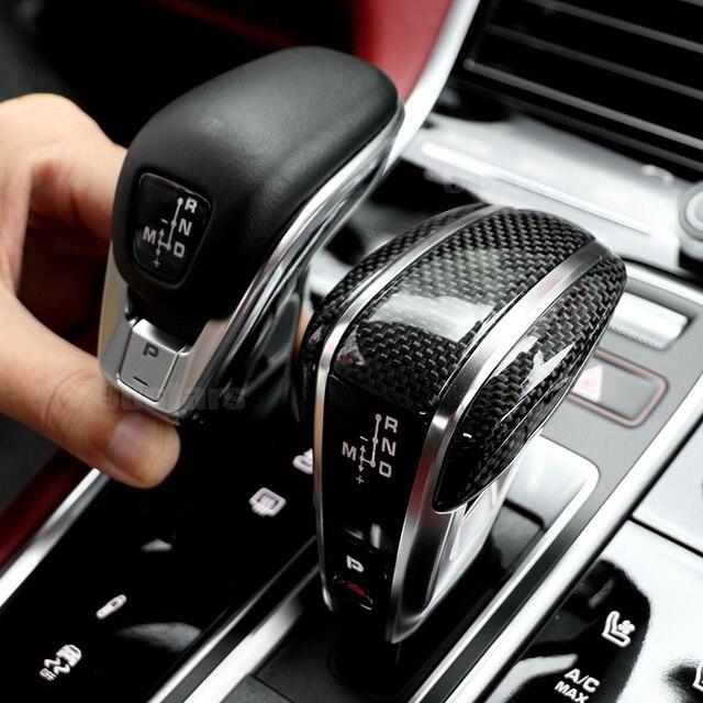 Schaltknauf für Porsche Cayenne Panamera 2017 2020 Carbon Fiber Schaltknauf Schaltknauf Paddle Hebel Getriebe Kopf handball Ersetzen