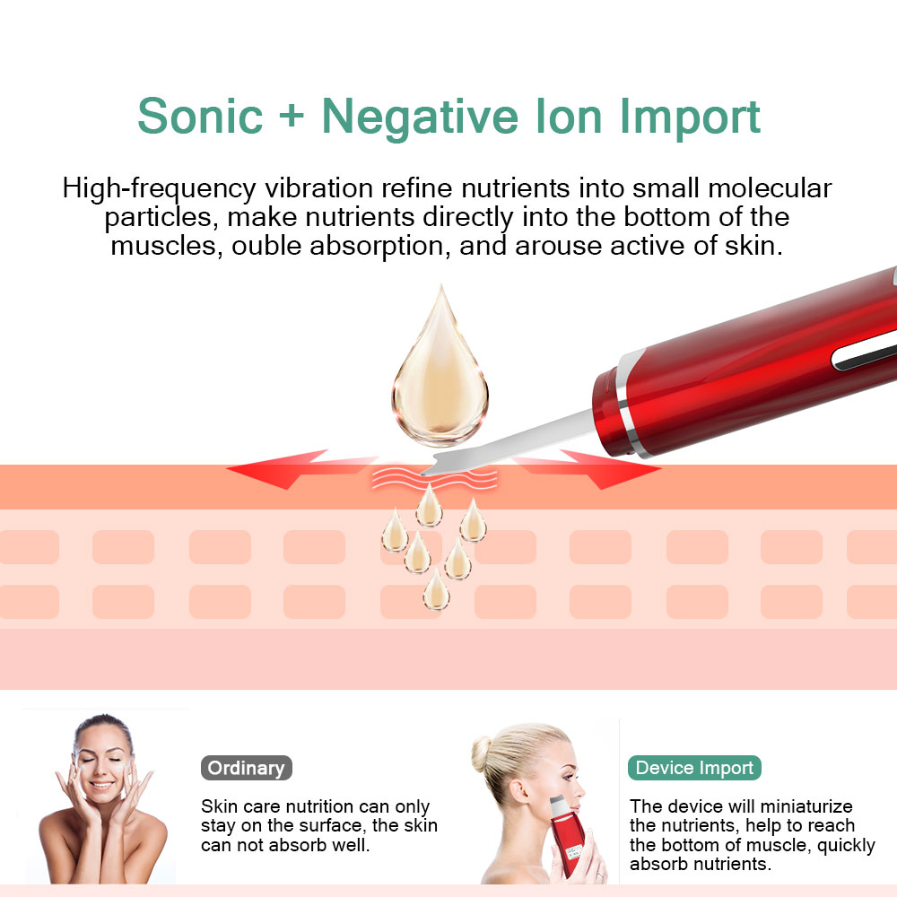 Image 3 - Ultrasonic Skin Scrubber Ultrasonic face cleaning Cleanser Blackhead Acne Removal Facial EMS Spa Massage Ultrasound Peeling Tool-in Skin Scrubber from Beauty & Health
