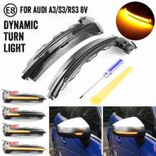 Flow Rearview Dynamic Sequential Mirror Flowing LED Turn Signal Light For Audi A3 8V S3 RS3 2013 2018