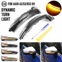 Flusso Retrovisore Dinamico Sequenziale Specchio Fluente LED Luce di Segnale di Girata Per Audi A3 8V S3 RS3 2013 2018